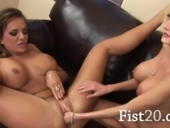 hungry pornstars enjoy vagina fisting