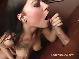 Vanessa Naughty Gloryhole Blowjob