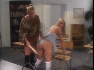 Sexy cheerleader spanked by her horny teacher
