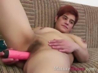 Mature wife intense toy fucking