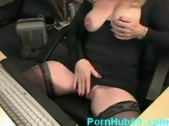 Horny mature masturbating and squirting while watching porn on computer free