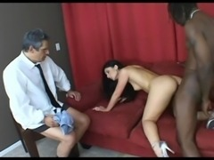 Fucked while husband watching free