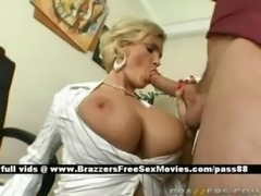 Busty Blonde Blowjob free