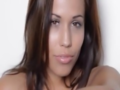 Sexy dance and strip of hungry babe
