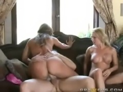 Threesome with Hot Cougars! free