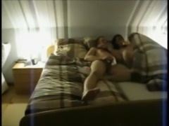 Amateur Wife with Lover on Real Homemade free