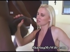 Busty Mommy Slurps Down Black Cum free