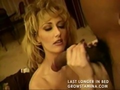 Hot blonde MILF anal interracial free