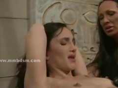 Big nasty mistress with large boobs uses her slave to please herself...