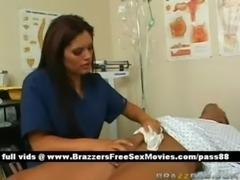 Super sexy busty doctor babe teating pacients free