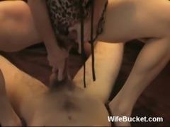 MILF wife pleasuring hubby free