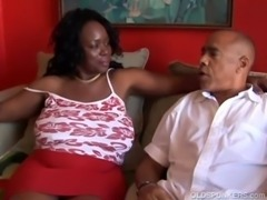Busty mature black BBW loves to suck cock free