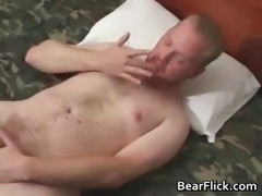 Gay bear stroking off his cock and hairy part6