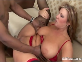 Horny tattooed MILF in sexy stockings getting fucked in many positions
