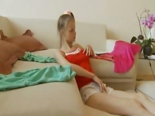 Beata cheerleader sucking huge cock