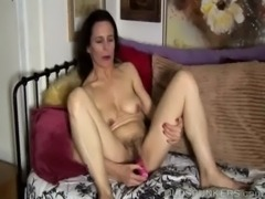 Mature amateur has a hairy pussy free