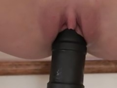 ultra big black toy in my tight cunt