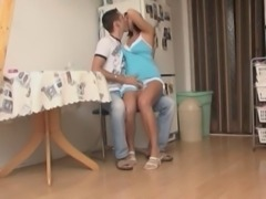 Milf and young guy have fun. free