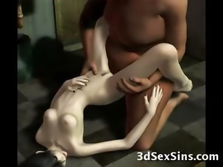 3D Monsters Fucking Elf Girls!