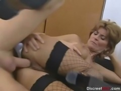 Busty Redhead German Mature Gets Anal free