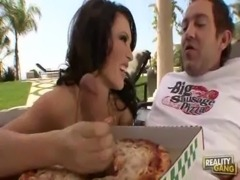Jenna Presley Eating Pizza With Cum on Top at Big Sausage Pizza free