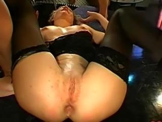 German Pussy Bukkake & Anal Gangbang