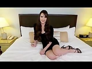 cute amateur girl making adult video