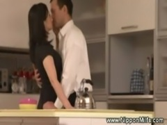 Mature asian milf kissing with  ... free