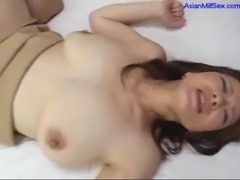 Busty Milf Getting Her Hairy Pussy Fucked Hard Creampie On The Bed free