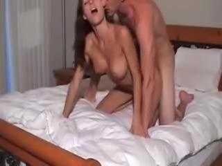 Amateur Girl.Rides Boyfriend Cock