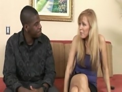 Superhot Mom Nicole Moore takes a fat black cock free