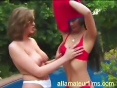 Blonde lesbo doing amateur asian