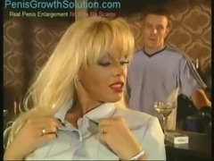 Blond milf with big tits double penetrated free