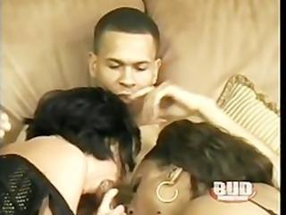 Interracial threesome with arab and ebony