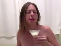 Preggo slut cock milk drench