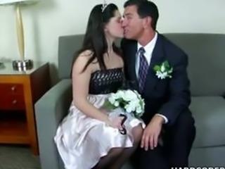 Skanky Bride Amber Blows Cock