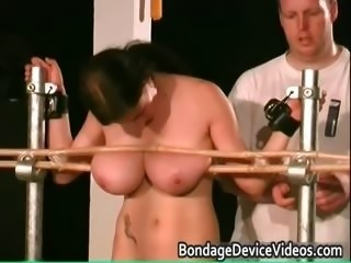 Busty brunette babe is sex slave part1
