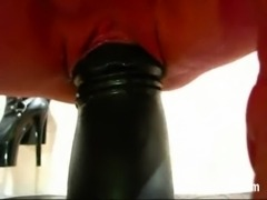 Giant dildos and butt plugs tear her hole apart free