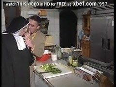 Shy European Nun gets her ass fucked good and hard free