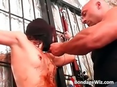 Some horny slut getting tortured