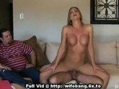 Unhappy Watching Wife Banged free