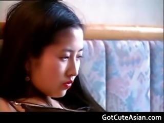 Cute asian stripping