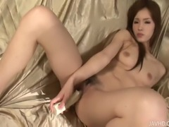 Mei Haruka in this clip is a sight to see! This lovely chick wished for some glamour in her sex life and this is just what she got. Exquisite solo play in the most romantic scenery, by a beautiful and elegant girl. A big white cock-shaped dildo will be her helper today, and after just a few thrusts we know it will do a great job. A little while later we have Mei screaming in delight!