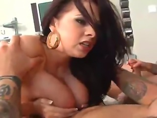 big boobs girl does it all with her massive tits jiggling every where