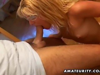 A blonde amateur slut homemade full blowjob with facial cumshot ! She sucks his cock in all positions, including 69 ! Hot...