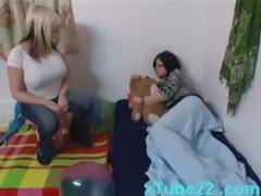 Lesbian stepmom licks daughters pussy free