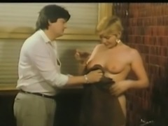 Classic French girl fingers her big pussy