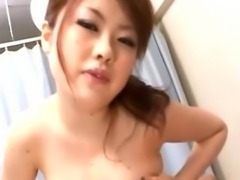 Busty asian nurse bitch gets a cumshot