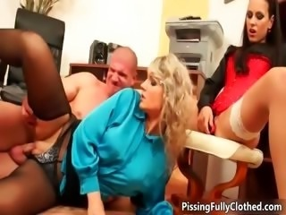 Dirty blonde and brunette whores part4
