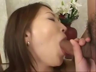 Shapely Japanese beauty gets massive cumshots
